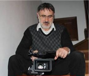 Chema Sarmiento con su cámara