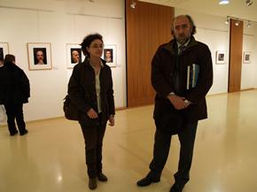 El Director General del Libro, Rogelio Blanco, junto a la concejal de cultura, Francine Rodríguez