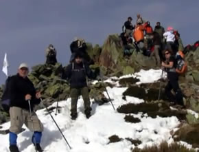 Algunos montañeros próximos a la cima