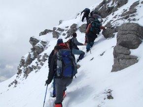 Foto cedida: Francisco García - Facebook Peña de Montañeros. Una de las ascensiones de la Peña