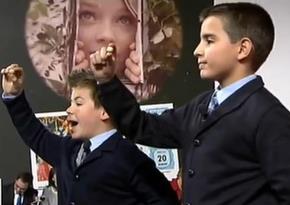 Una imagen de los niños que cantaron el Gordo de Navidad