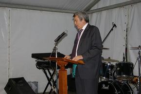 Miguel Martínez, durante el discurso