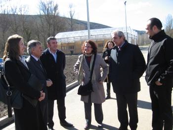 La directora de Parques Nacionales con Azuara, el director de Energía y Minas, el alcalde Igüeña y el subdelegado