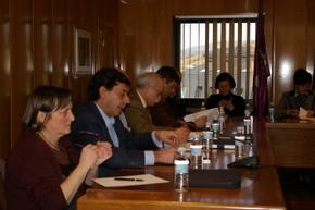 Los concejales del PP, durante su intervención en el último Pleno