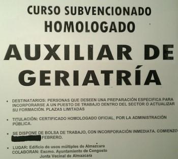 En el cartel se aprecia como Ayuntamiento y Junta Vecinal supuestamente colaboraron