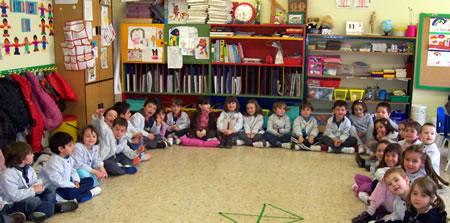 Algunos de los alumnos que están participando en la actividad Toca Toca