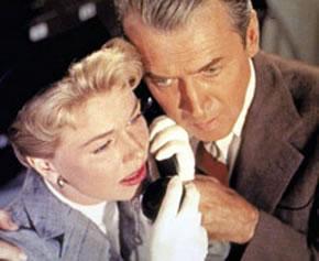 Doris Day y James Stewart en una escena del film