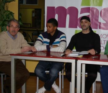 Carlos Joao Vieira, a la derecha, durante la presentación