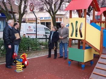 Los ediles del PP comparecieron en el parque de Bernardo Alonso Villarejo