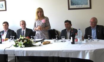 Un momento del evento en el centro cívico de San Román