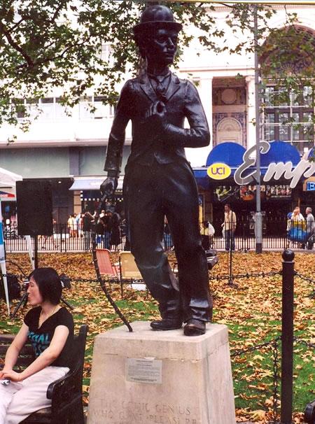 Estatua de Chaplin en Leicester Square de Londres (foto Cuenya)