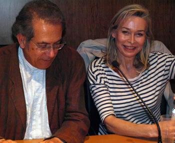 Susana Fortes junto al coordinador del ciclo Tomás Néstor (Foto Cuenya)