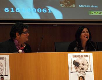 Camila Bossa y el coordinador del ciclo Manuel Cuenya