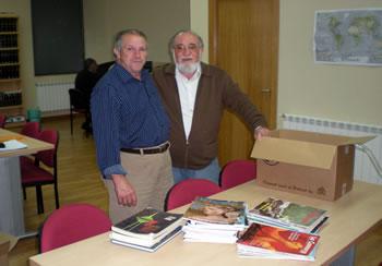 Óscar Alonso y el concejal del ayuntamiento de Folgoso, Teodoro Villaverde