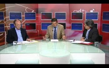 Un momento del debate, moderado por Roberto Arias