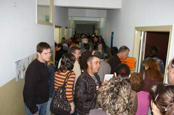 Un momento de la jornada electoral de 2007