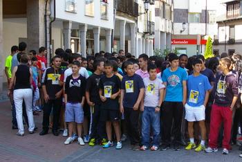 Los participantes, en el momento de tomar la salida