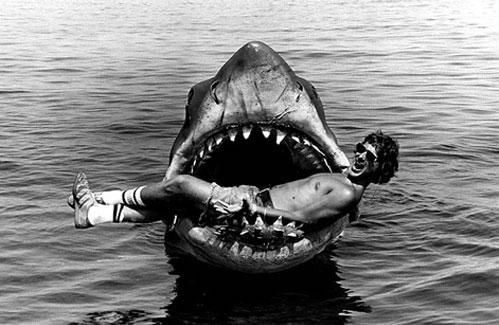 """Spielberg con su """"Tiburón"""" aparentemente domesticado"""
