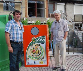 El alcalde de Folgoso con el gerente de Asprona Bierzo