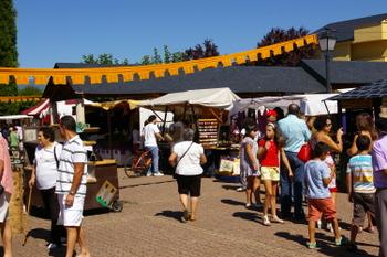 Un momento del Mercado Medieval del pasado año, en el entorno del Palacio
