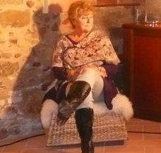 Una imagen de la pintora Ángela Merayo, pregonera de las fiestas