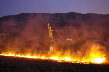 El incendio se produjo en El Santo