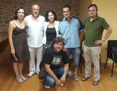 Los participantes en el encuentro literario