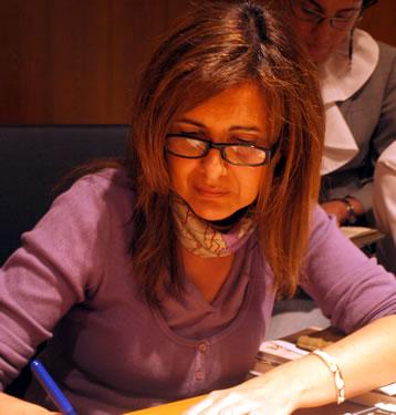 Blanca Andreu durante su visita a Bembibre para participar en Tardes de Autor