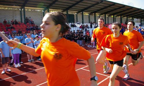 Un momento de la clausura de las Escuelas Deportivas en la 'Miniolimpiada'