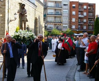 Un momento de la procesión celebrada en la mañana de este jueves