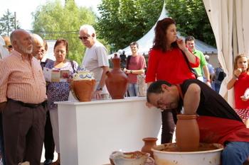 Un momento de la inauguración de la Feria