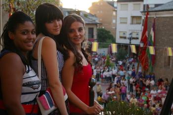 De izquierda a derecha: Lorena Rodríguez, Paula Caramés y Ángeles Guerra