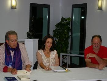 Pilar Blanco, durante su intervención en Tardes de Autor