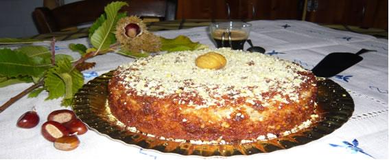 Dulce elaborado con castañas de Santa Marina