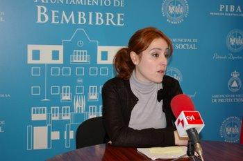 La concejala de Bienestar Social, Laura Álvarez, con motivo de la presentación