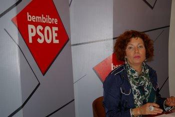 La concejala del PSOE dice al PP que no va a permitir esta crítica