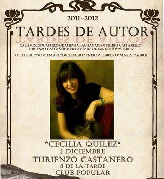 Extracto del cartel anunciador de las Tardes de Autor