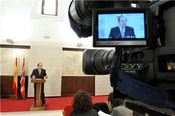 El presidente Herrera durante una comparecencia. Foto: Junta CYL