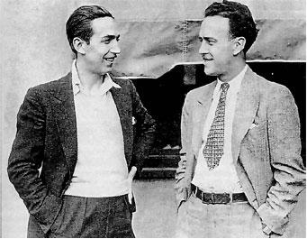 No debemos olvidar a quienes le ayudaron, como el gran Iwerks (a la derecha, con Walt Disney)