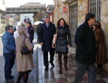 Antonio Silván, esta mañana en Torre del Bierzo donde ejerció de mantenedor de Las Candelas
