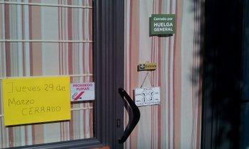 Uno de los establecimientos que cerró ayer
