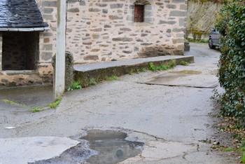 Estado de la calle La Iglesia donde se ejecutará la renovación de redes