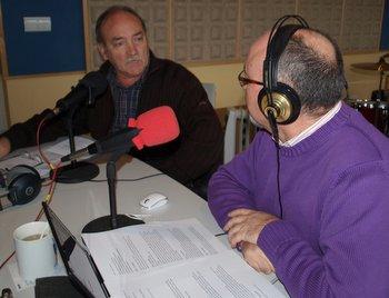 Manuel Otero con Cano García, este miércoles en los micrófonos de Fórmula Hit Bierzo