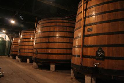 Almacenamiento del vino en una bodega