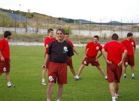 Simón Pérez en su etapa como entrenador del Atlético Bembibre