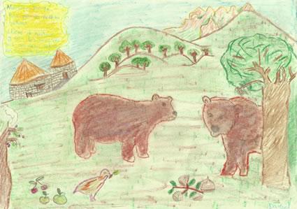Los osos, de Daniel Fernández Merayo. 3º de Primaria del Colegio Virgen de la Peña, Bembibre