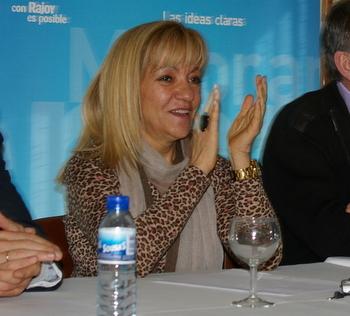 Isabel Carrasco es la presidenta del Partido Popular en León