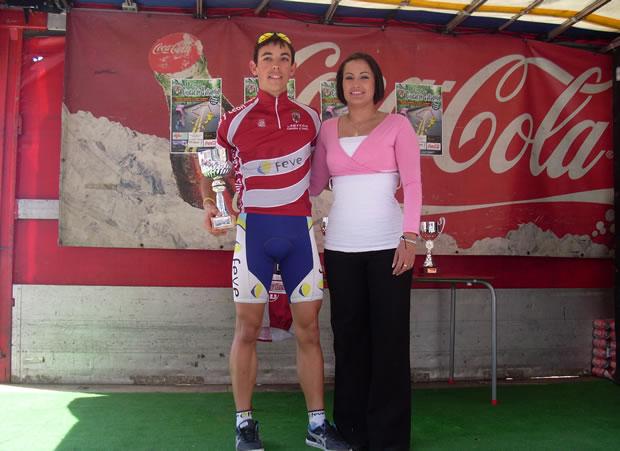 David González con el Maillot del Trofeo Castilla y León