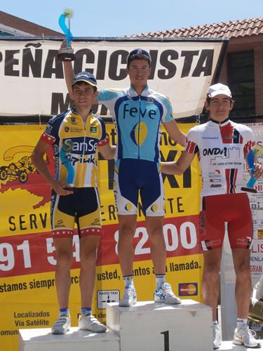 Jesús Nanclares en lo más alto del podium de Fuenlabrada
