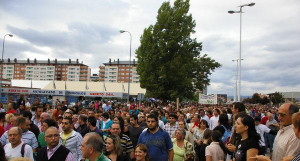 En 2010 las manifestaciones abarrotaron el Bierzo